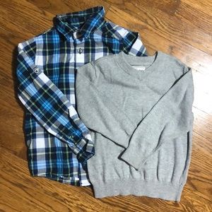 Children's Place sweater & button down- 4-6